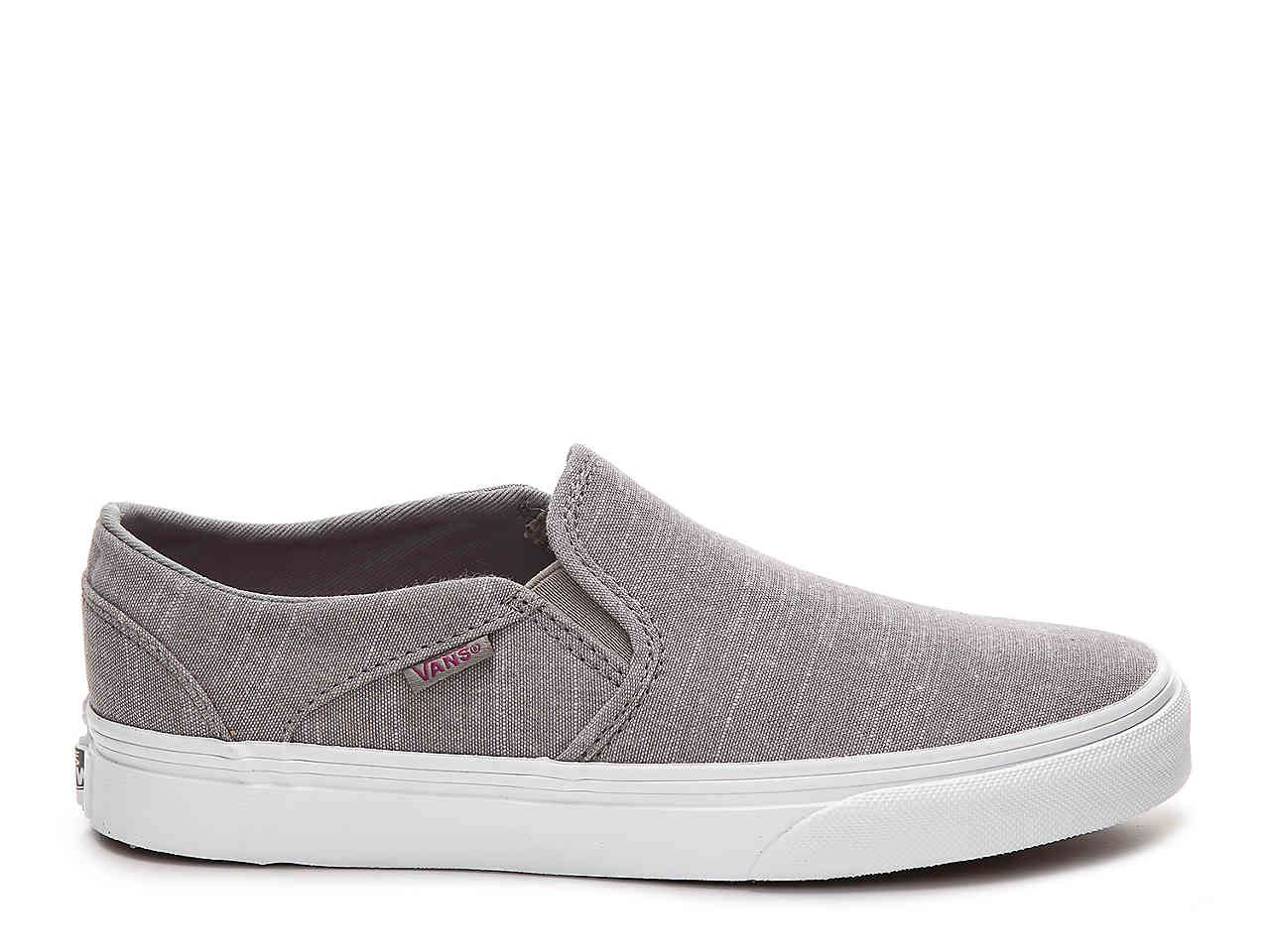 Vans Asher Chambray Slip-On Sneaker - Women s Women s Shoes  44ac467bb