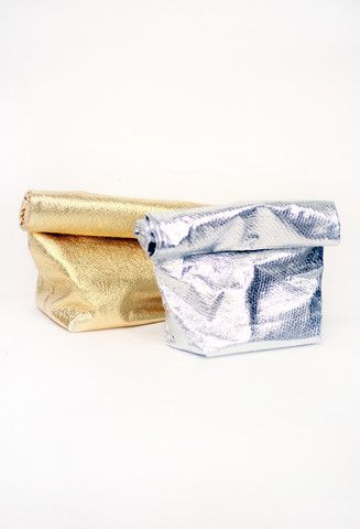 Metallic Foil Lunch Clutch | Tarte Vintage