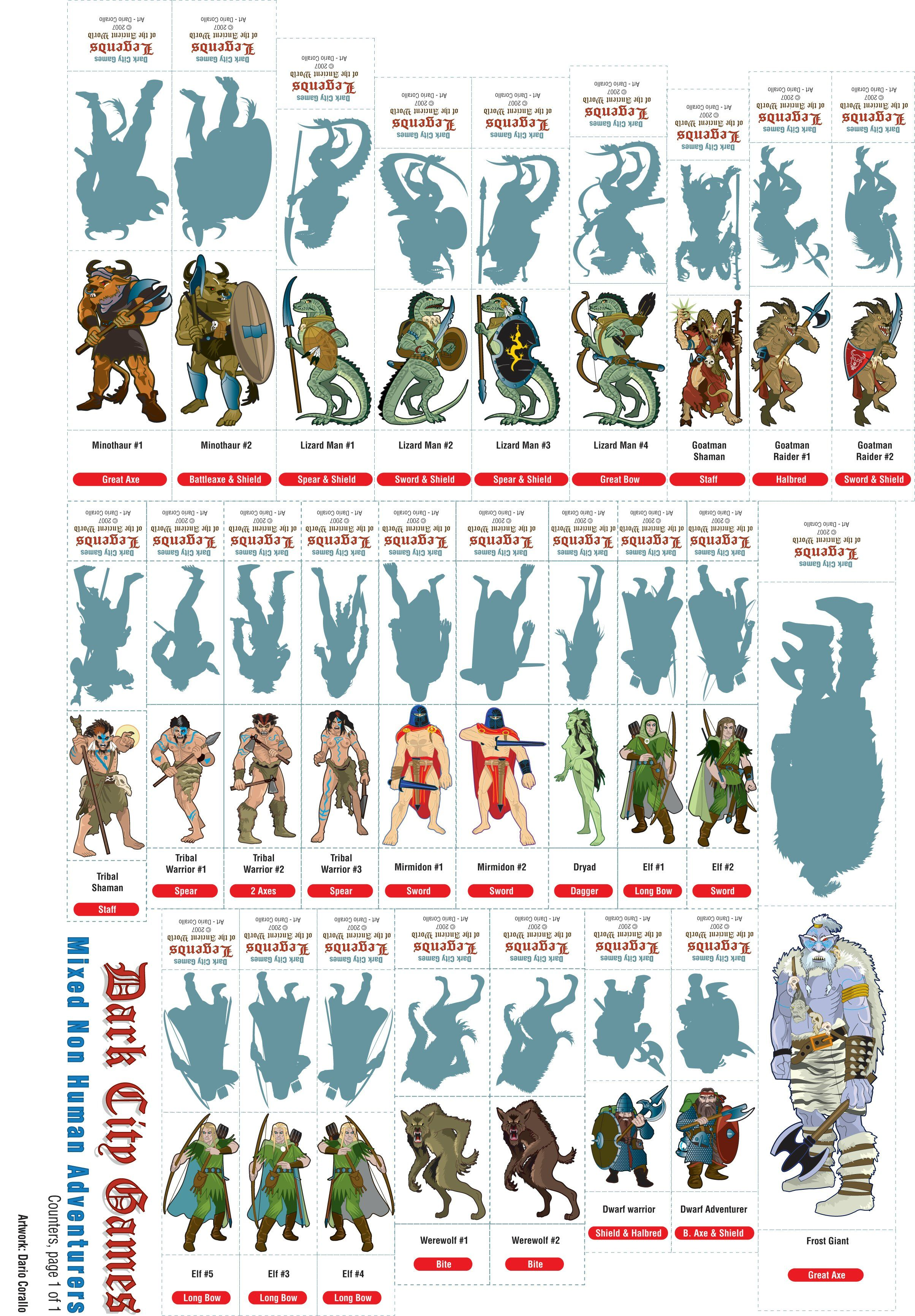It is a photo of Playful Printable D&d Miniatures