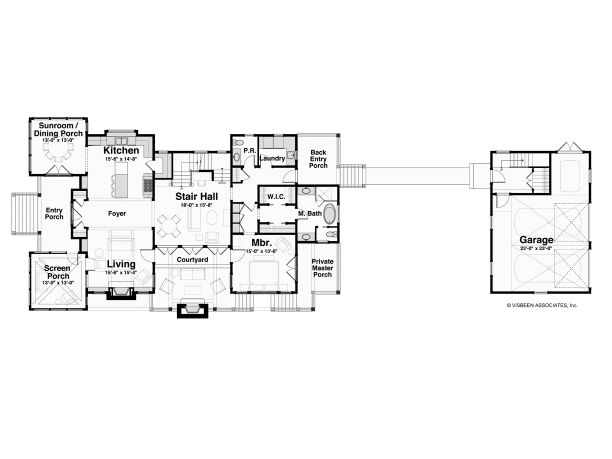 Hwepl75794 level 1 eplans designed by visbeen for Visbeen architects floor plans