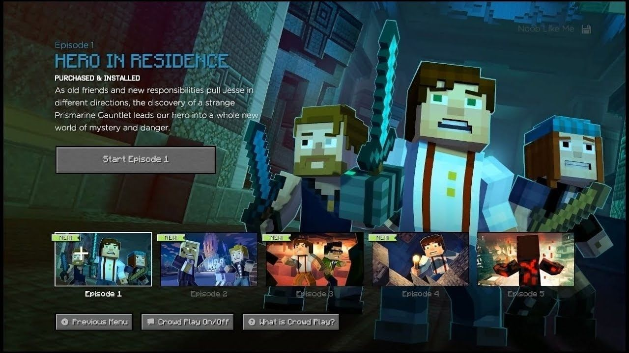 Minecraft Story Mode Season 2 Ep 1 Hero In Residence Full