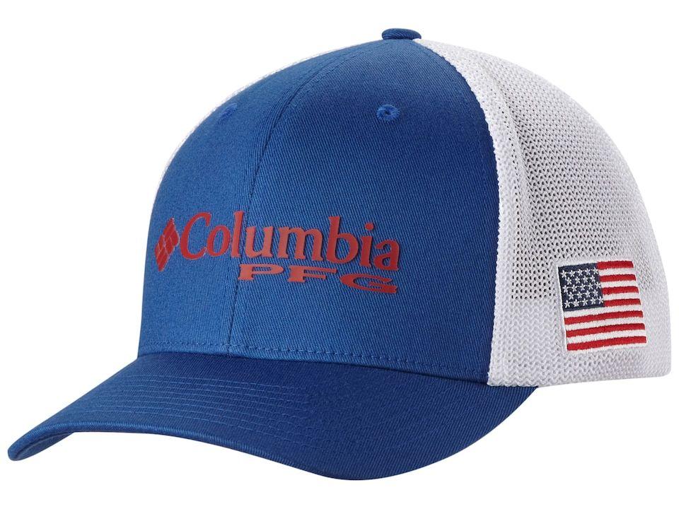 Columbia Pfg Mesh Ball Cap Mountain Blue Large Xl In 2021 Ball Cap Mesh Trucker Hat Hats For Men