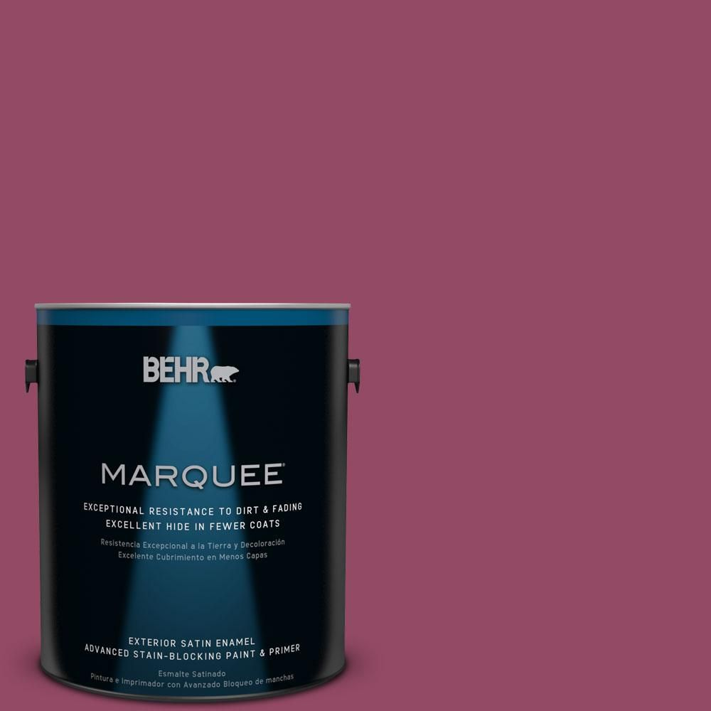 BEHR MARQUEE 1-gal. #P120-7 Glitterati Satin Enamel Exterior Paint ...