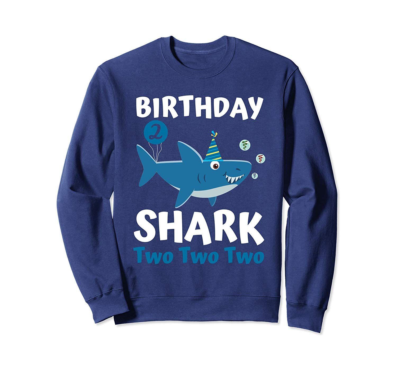 Baby shark 2nd birthday shirt boy girl toddler birthday