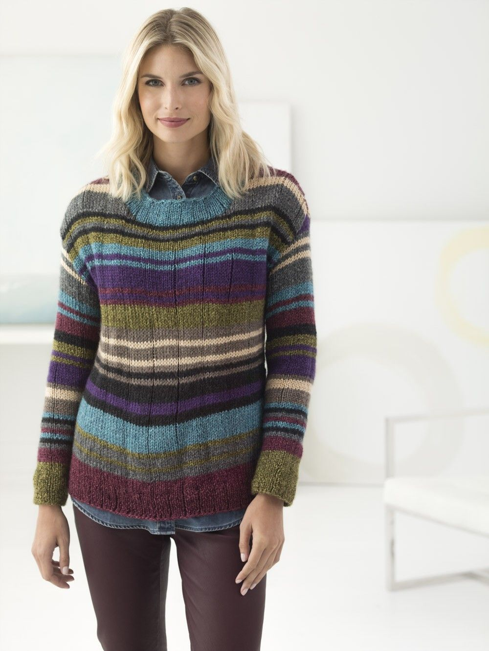 Free Knit Pattern: Westport Pullover | knitting and yarn | Pinterest ...