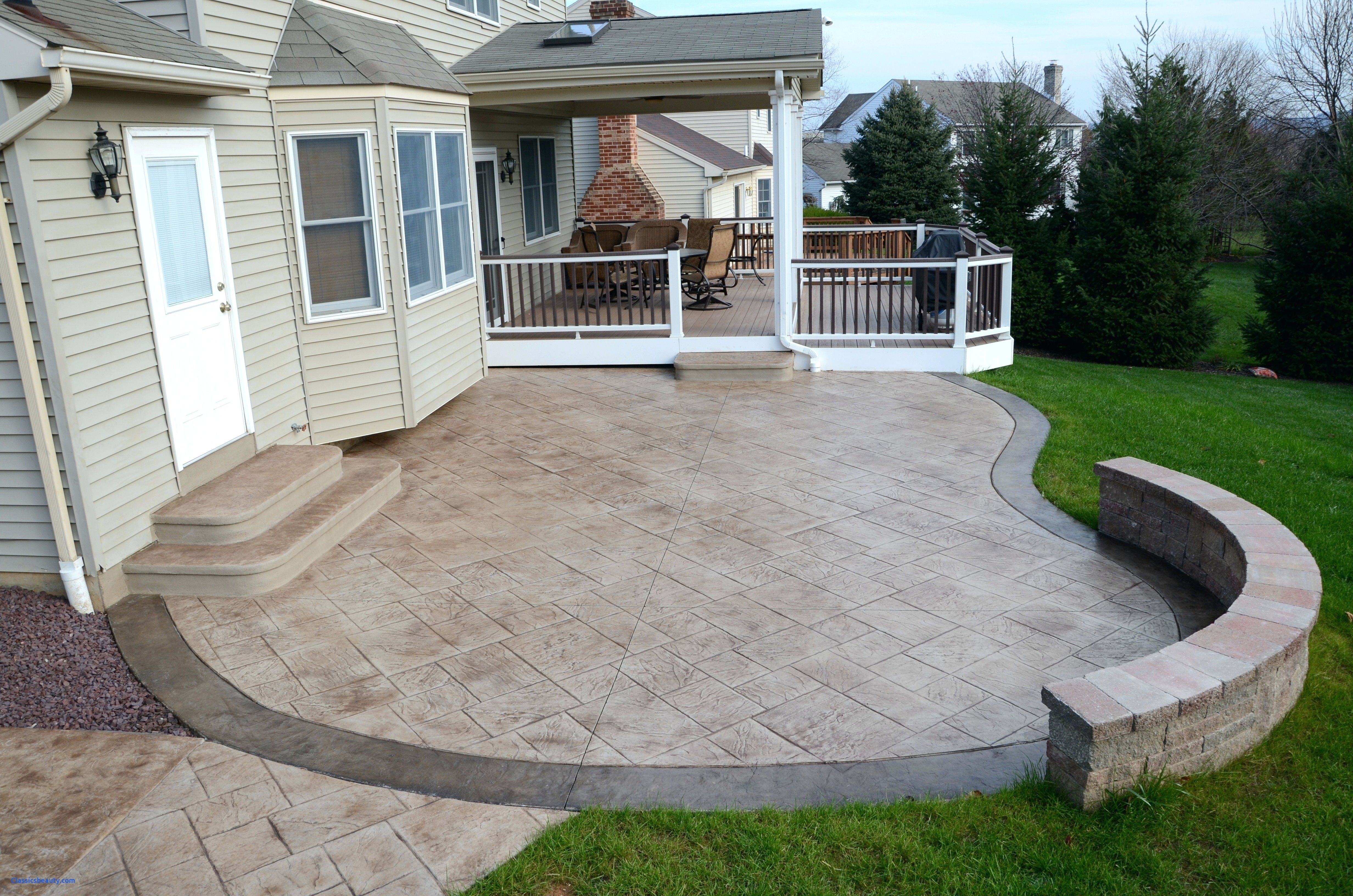 Stamped Cement Patios Fresh Emejing Cement Patio Ideas Ideas
