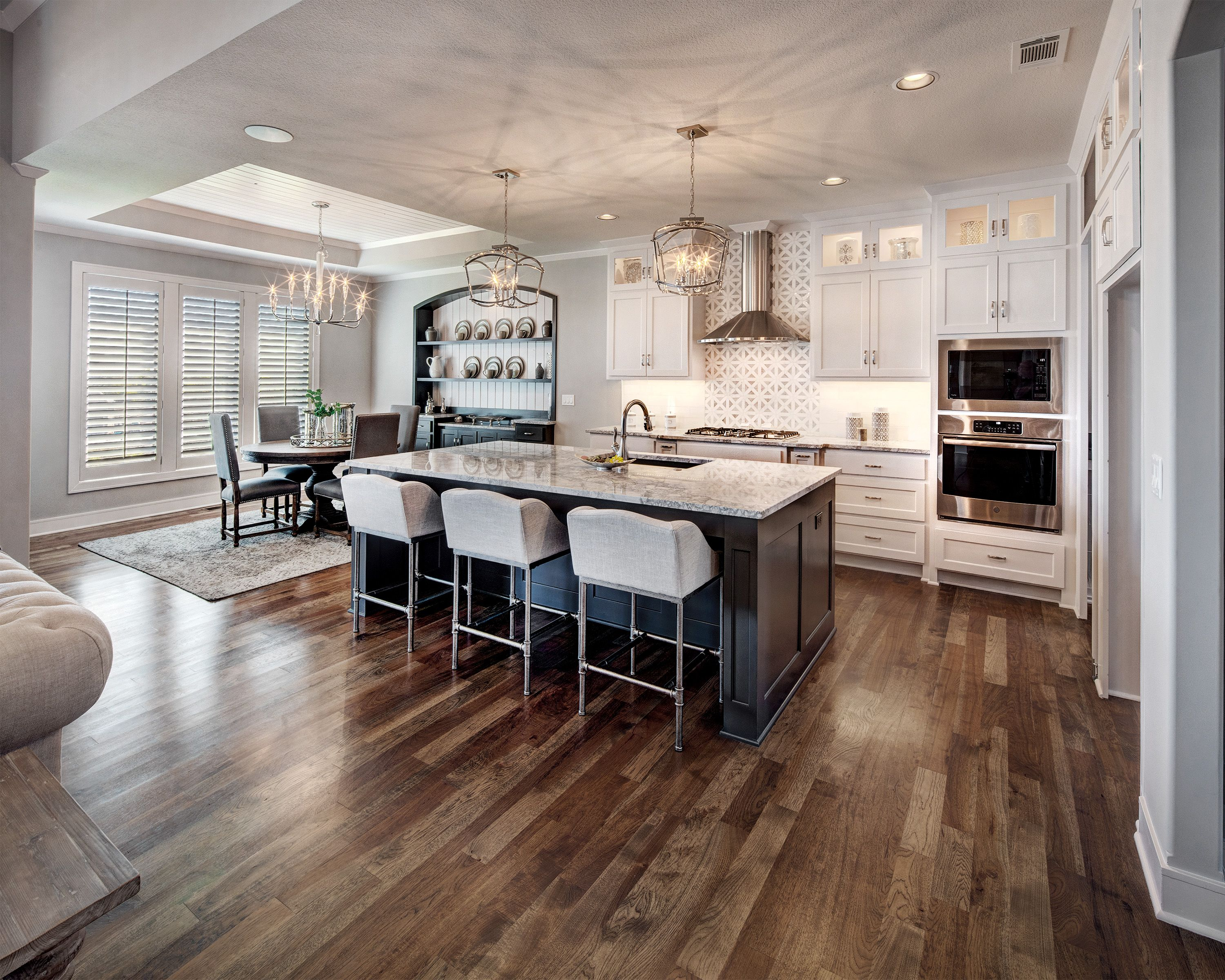 Interior Design Shiplap Ceiling Lighting New Home Ideas Hardwood Floors Painted Cabinets Reverse 1 5 Fl Kitchen Remodel Kitchen Remodeling Projects Home