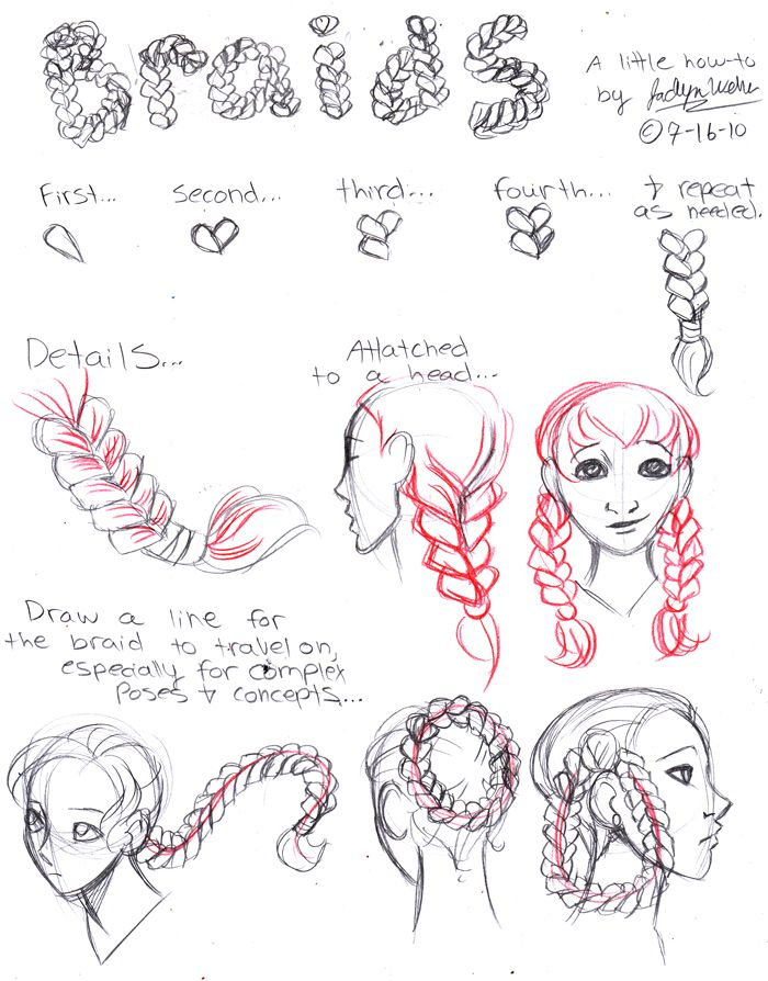 Braids By Mistytang On Deviantart Drawing Tutorial How To Draw Braids Drawings