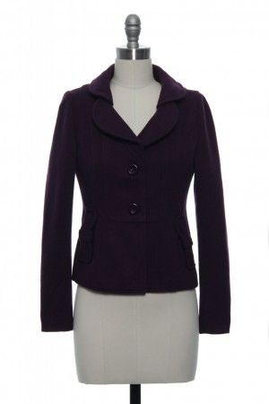 """Lace Affair's """"Plum Has More Fun"""" jacket matches """"Tip of the Chrysler"""" really nicely! Meant to be together!"""