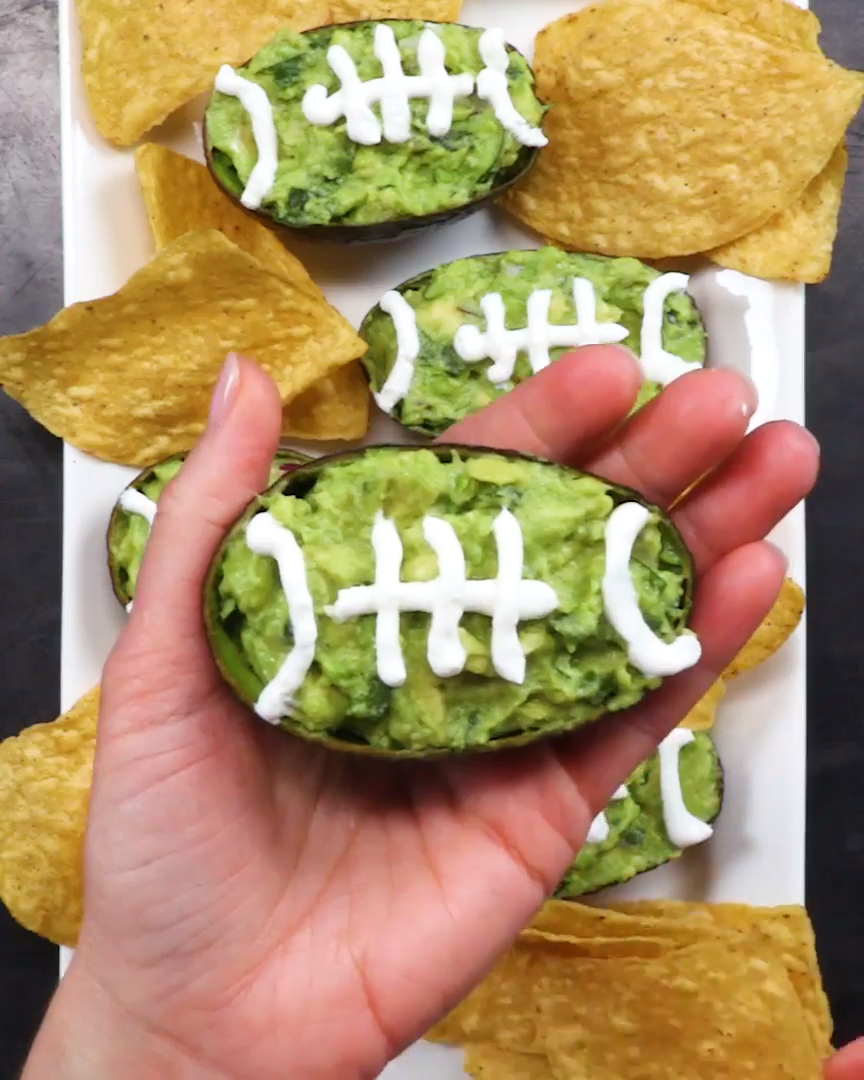 Guacamole Footballs - Tailgating Recipes