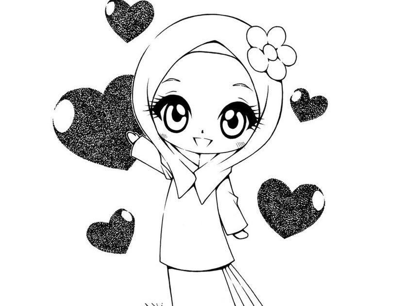 Terkeren 30 Gambar Mewarnai Kartun Islam Muat Turun Segera Bermacam Contoh Gambar Mewarna Kartun Download Koleksi Mewarnakan Gamb Di 2020 Kartun Kartun Lucu Chibi