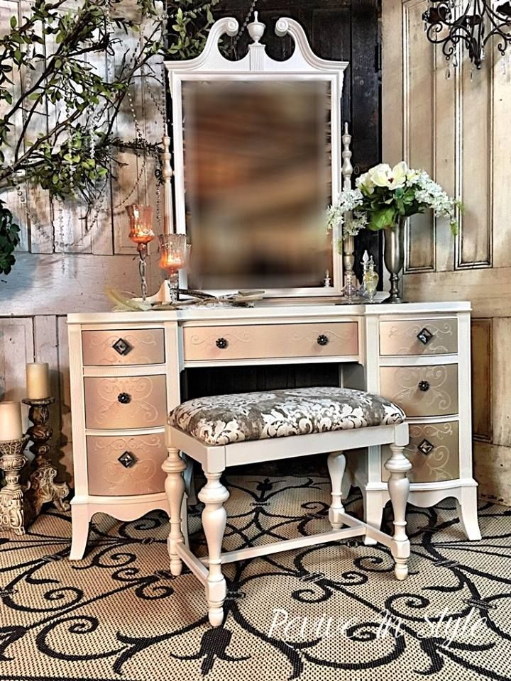 Fabulous Great Vanity Makeover By Revive In Style Furniture Flipping Interior Design Ideas Tzicisoteloinfo