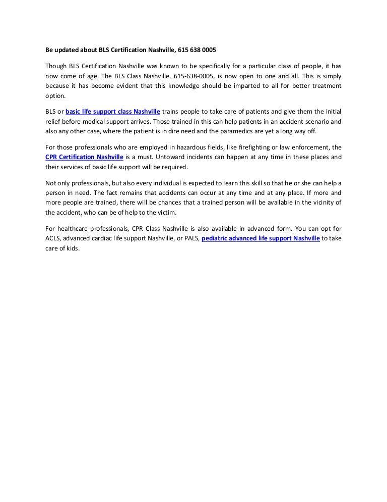 bls nashville certification slideshare certificate