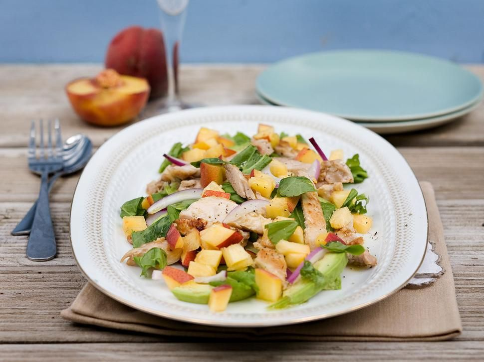 Peach salad recipe with chicken sorrel and avocado viva recipes peach salad recipe with chicken sorrel and avocado viva forumfinder Images
