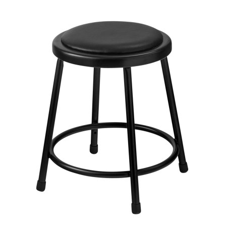 Outstanding Nps 18 Inch High Heavy Duty Vinyl Padded Steel Stool Black Caraccident5 Cool Chair Designs And Ideas Caraccident5Info