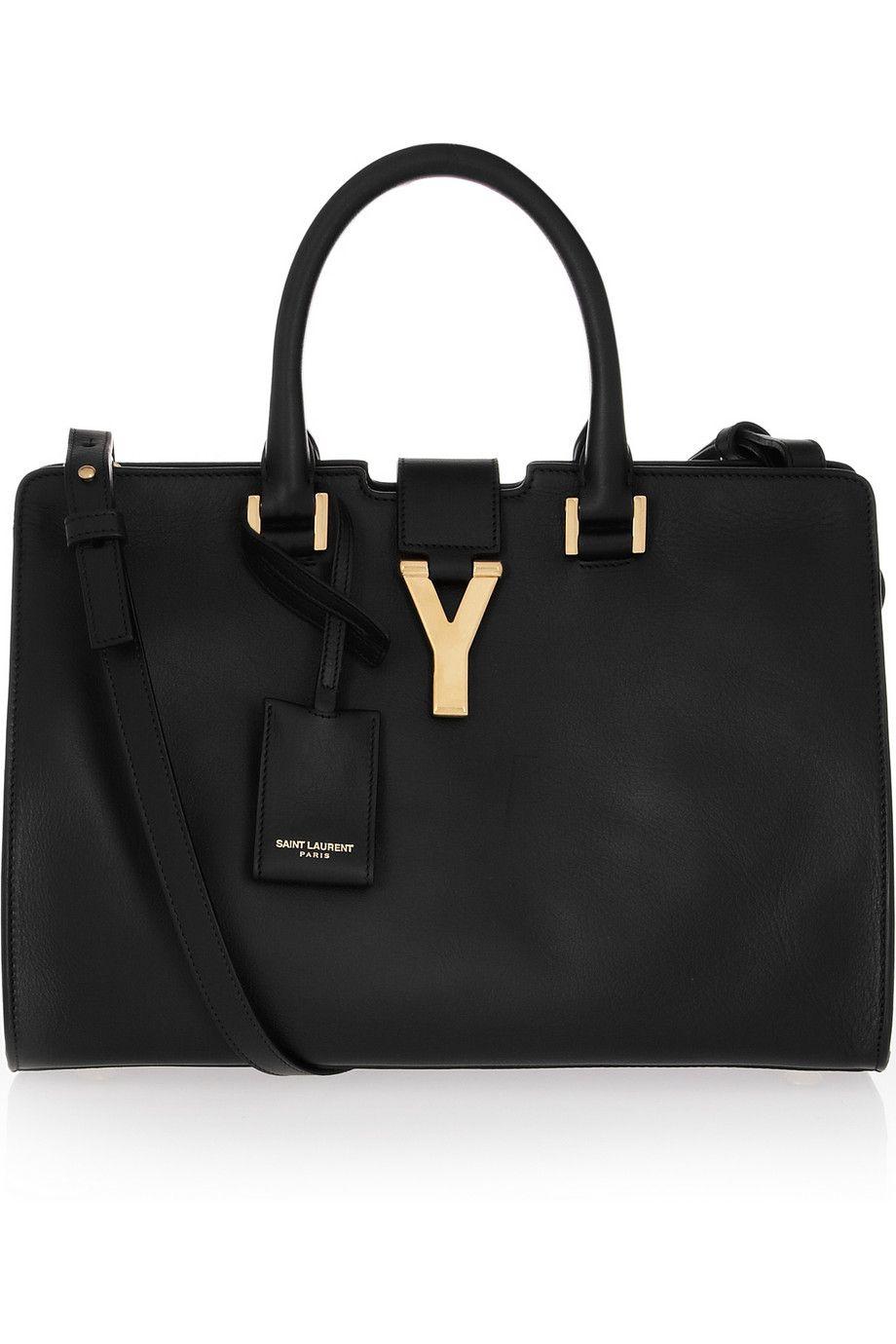 64b1da7614 Saint Laurent's classic Cabas Y in Black Leather. The lovely shoulder strap  makes this so versatile.
