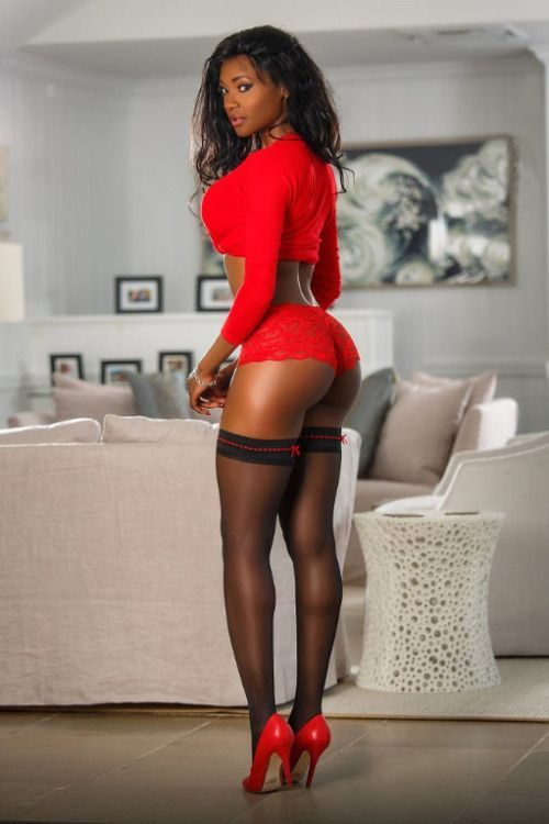 Black women in stocking