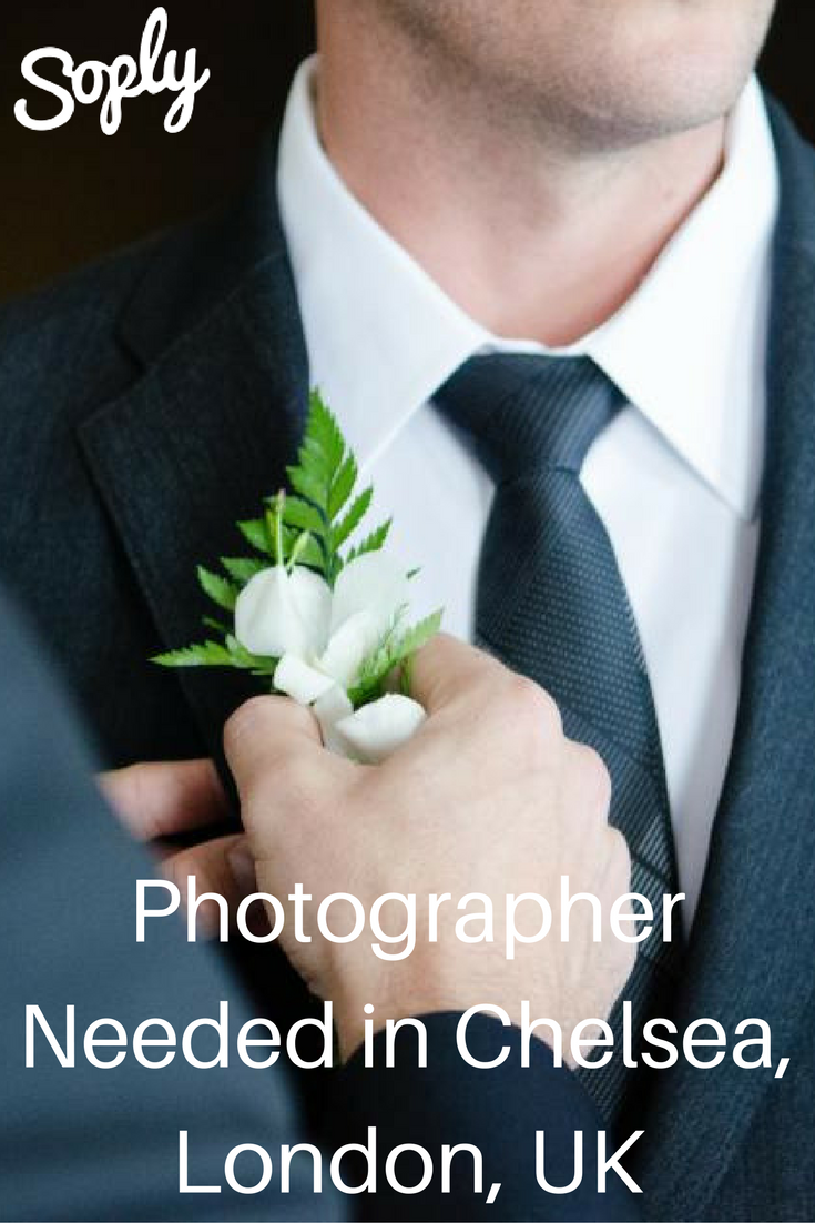 Wedding Photographer Needed In Chelsea London Uk On December 19th See The Photography Job By Clicking Pin