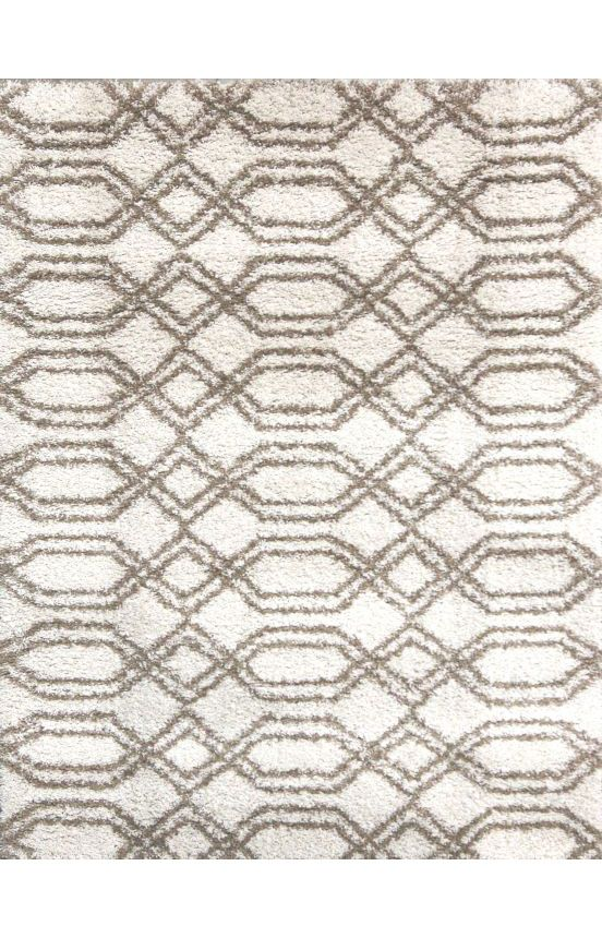 """9'2""""x12'10"""" Dynamic Rugs Passion 6202 White Rug"""