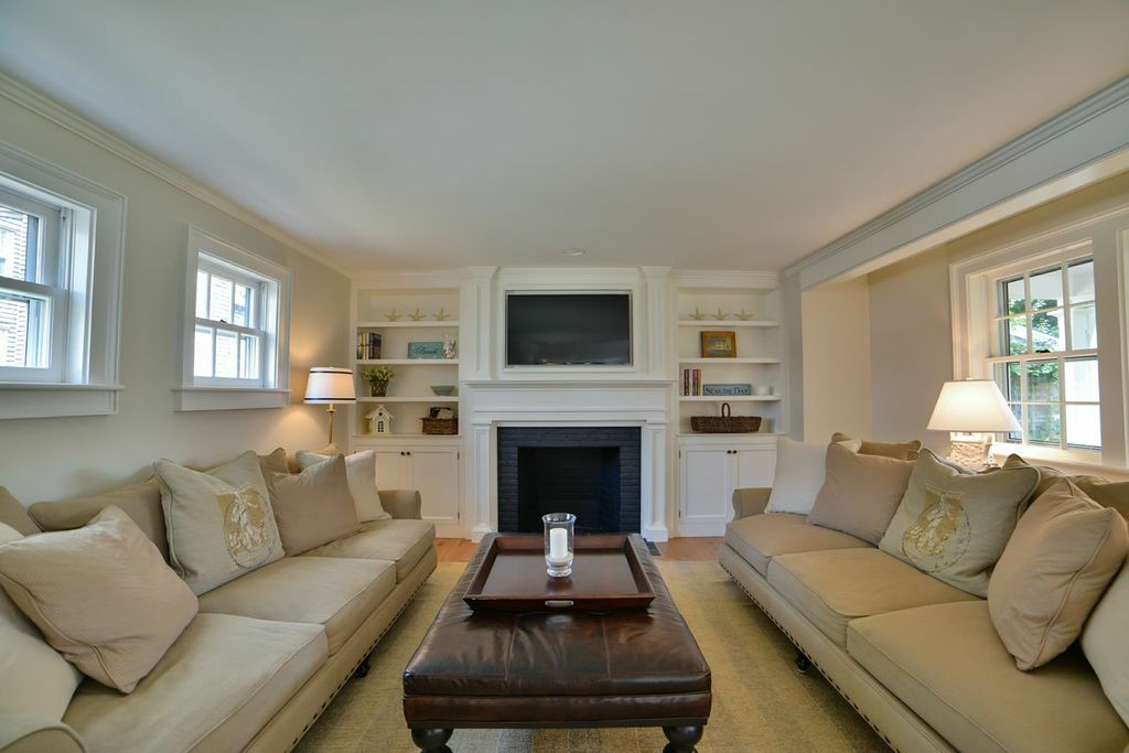 Kitchen den with fireplace 12 Pine Street, Luxury home for