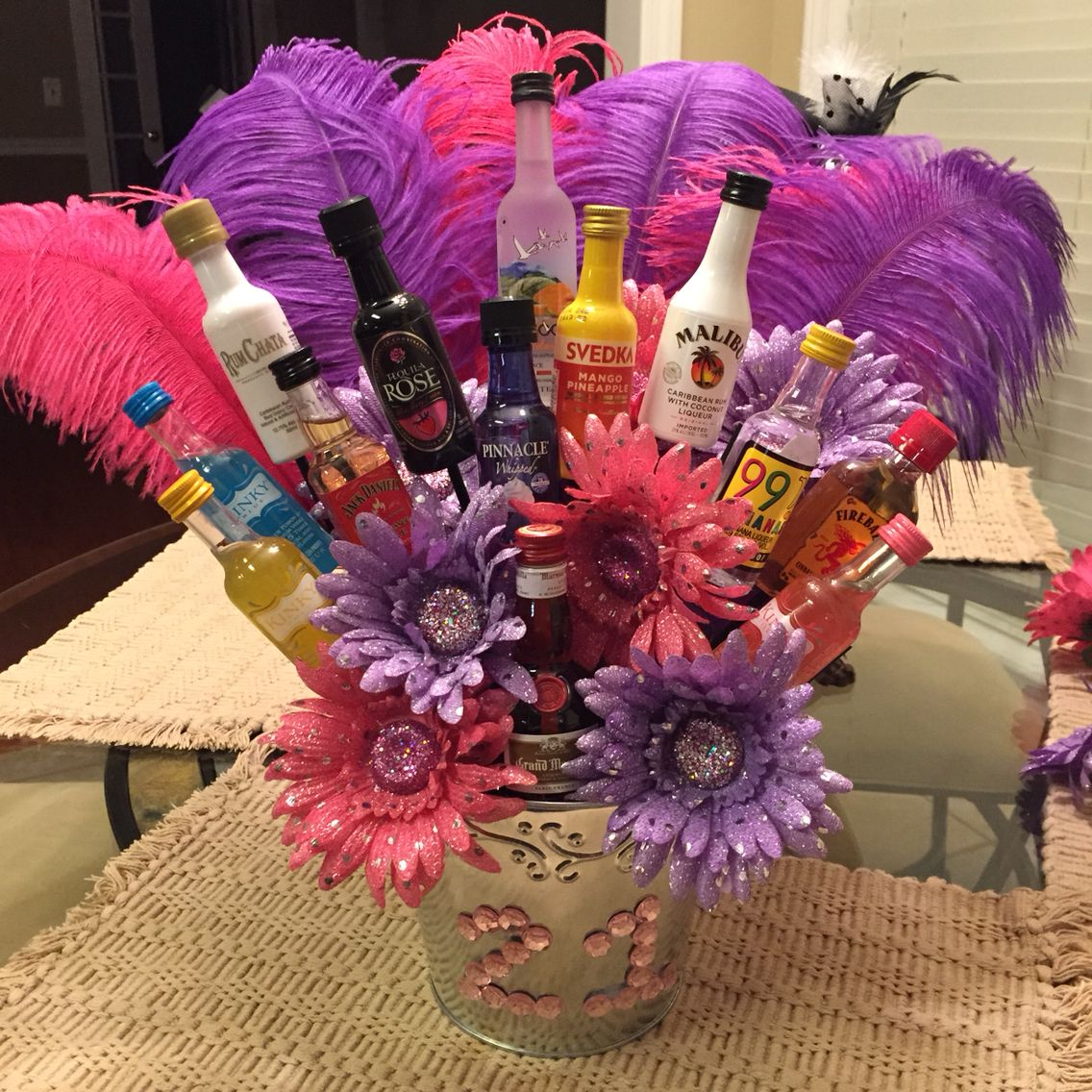 21st Birthday Alcohol Bouquet