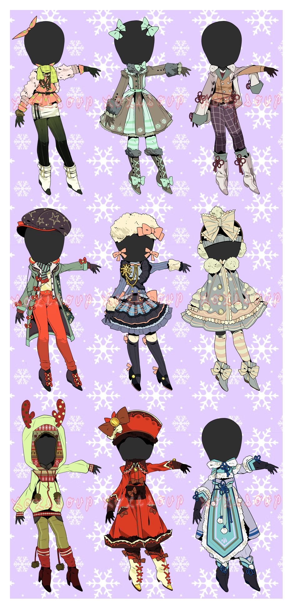 Closed Winter Clothes Auction Drawing Anime Clothes Winter Drawings Drawing Clothes