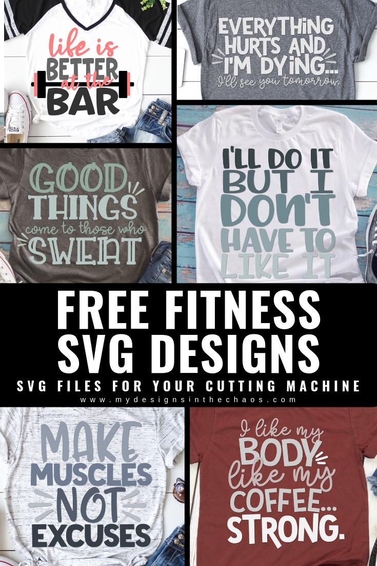 Free Fitness SVG Designs   Cricut Decals   Cricut, Cricut