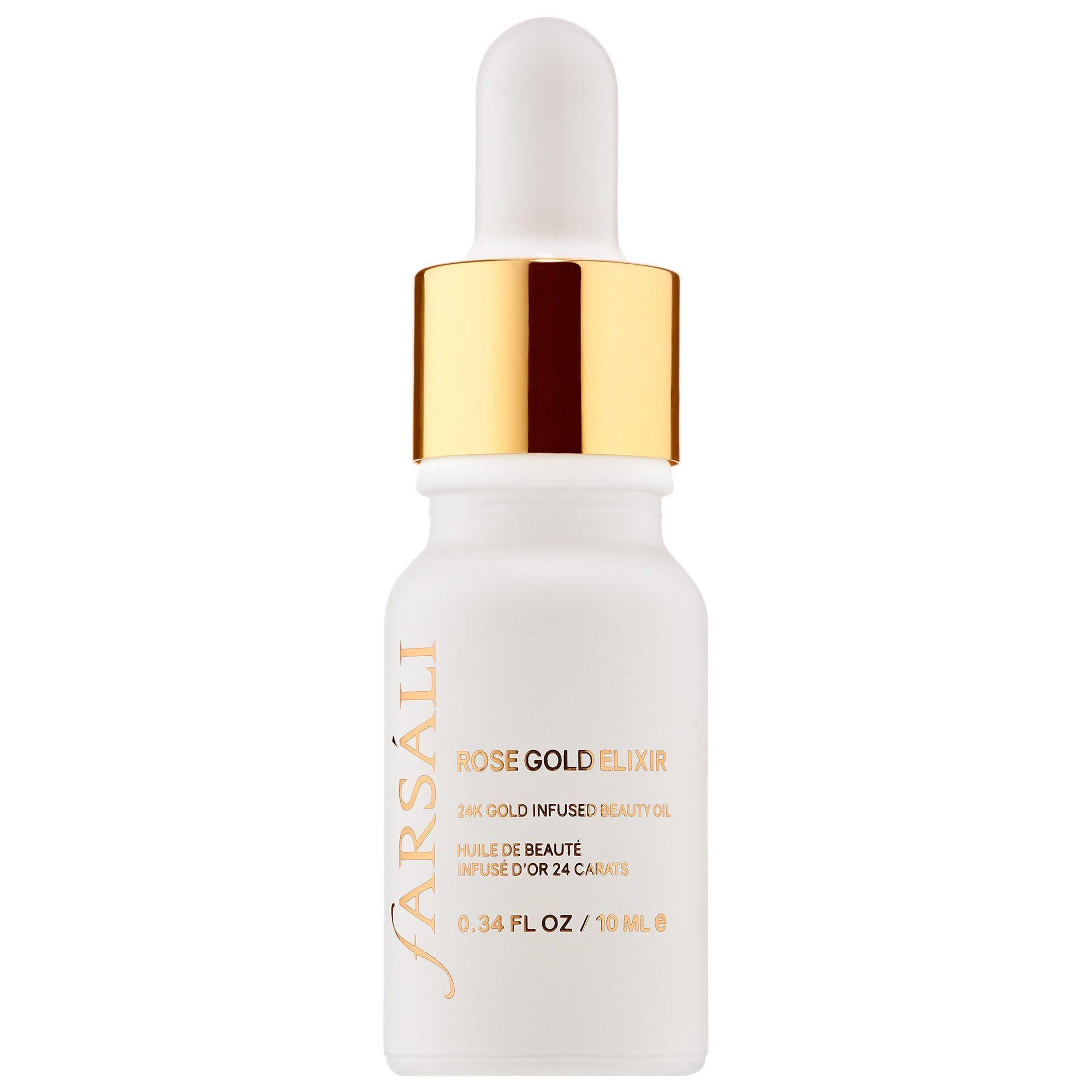 Rose Gold Elixir 24k Gold Infused Beauty Oil Mini Farsali Sephora Rose Gold Elixir Beauty Oil Sephora
