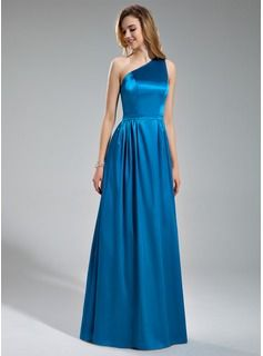 Bridesmaid Dresses - $135.99 - A-Line/Princess One-Shoulder Floor-Length Charmeuse Bridesmaid Dress With Ruffle  http://www.dressfirst.com/A-Line-Princess-One-Shoulder-Floor-Length-Charmeuse-Bridesmaid-Dress-With-Ruffle-007019630-g19630