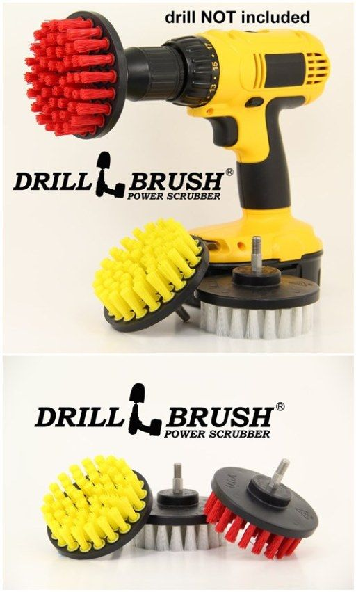 how to scrub bathroom like a boss with power drill brush diy tag