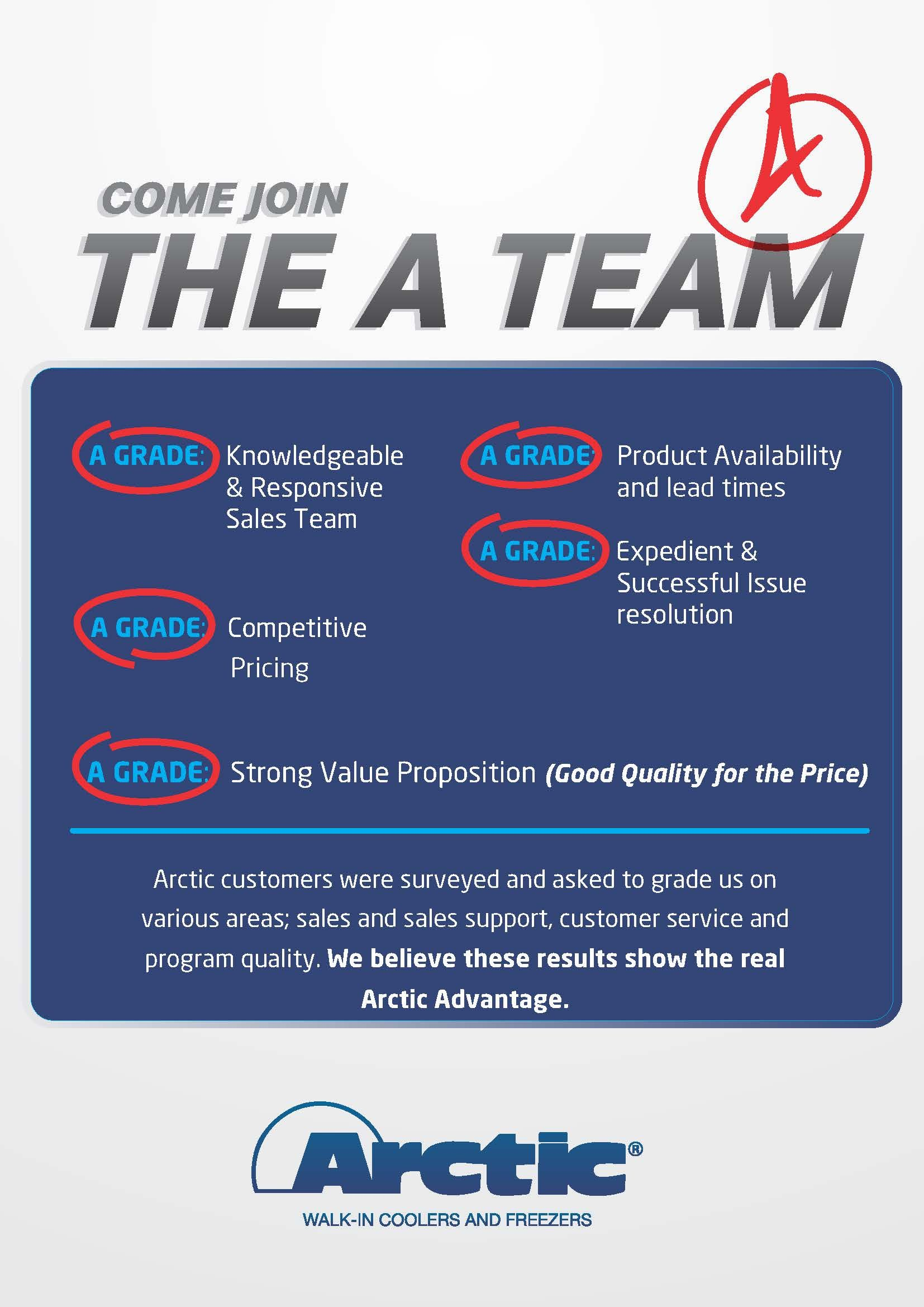 The real Arctic Advantage is our prople+ service walk in
