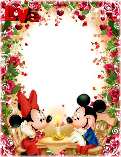 png frame mickey mouse frame kids frame png love frame children frame for photo children frame - Mickey Mouse Photo Frame