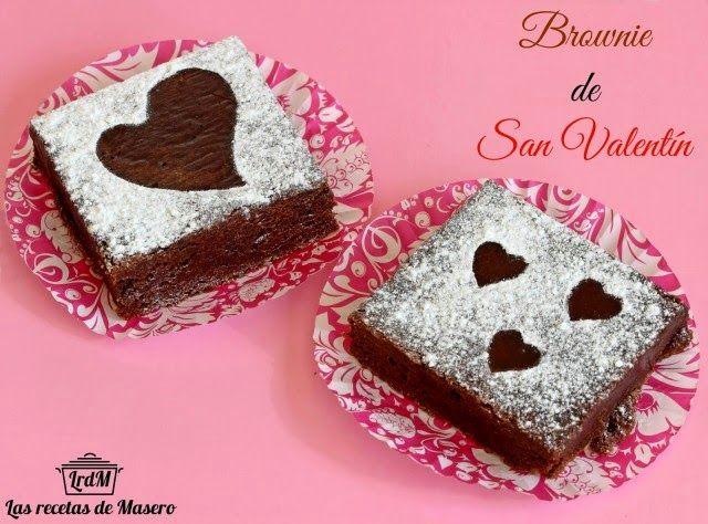Brownie san valentín