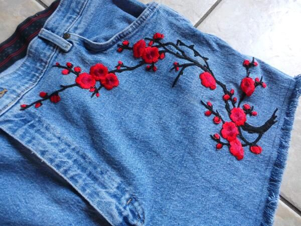DIY Festival Fashion: Turn Jeans into Embroidered Shorts The Easy Way   Crafting Happiness