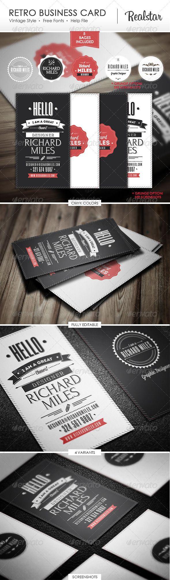 Retro Business Card Business Cards Retro Retro Business Card Business Card Design