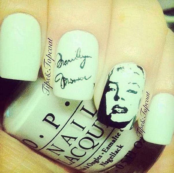 Marilyn Monroe nails   Marilyn Monroe   Pinterest   Nail nail and ...