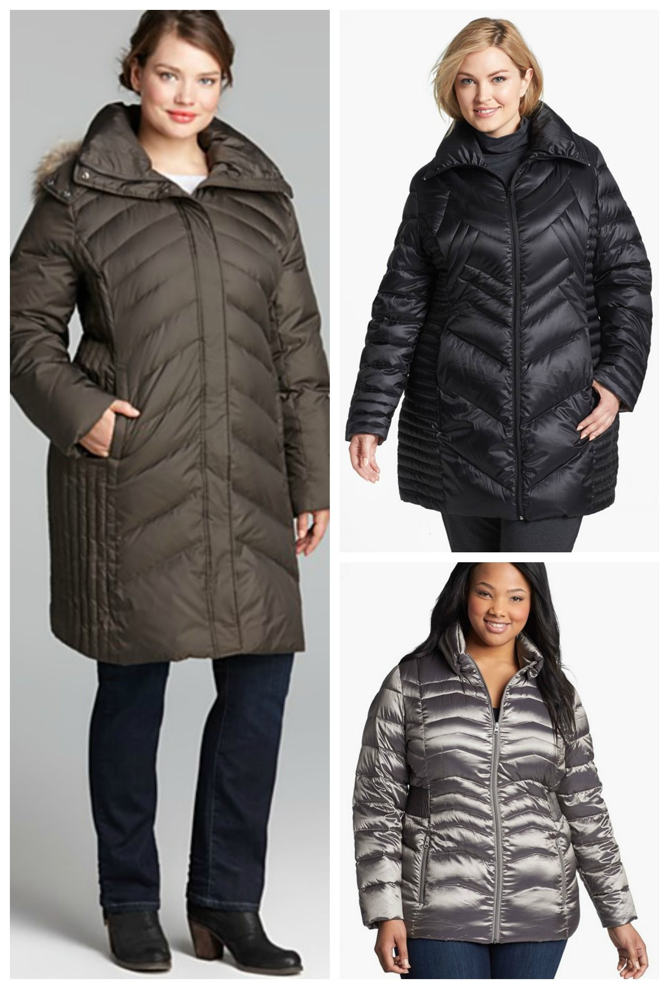 721c9723eb1 Your Fall Plus Size Coats Fit and Style Guide. plus size puffer coats -  Many plus sized women shy away thinking this style will only add to their  curves