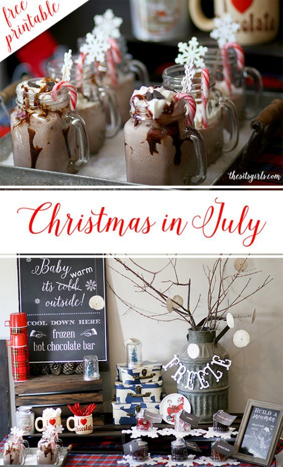 Christmas In July Party Ideas | Build A Snowman Party #holidaysinjuly