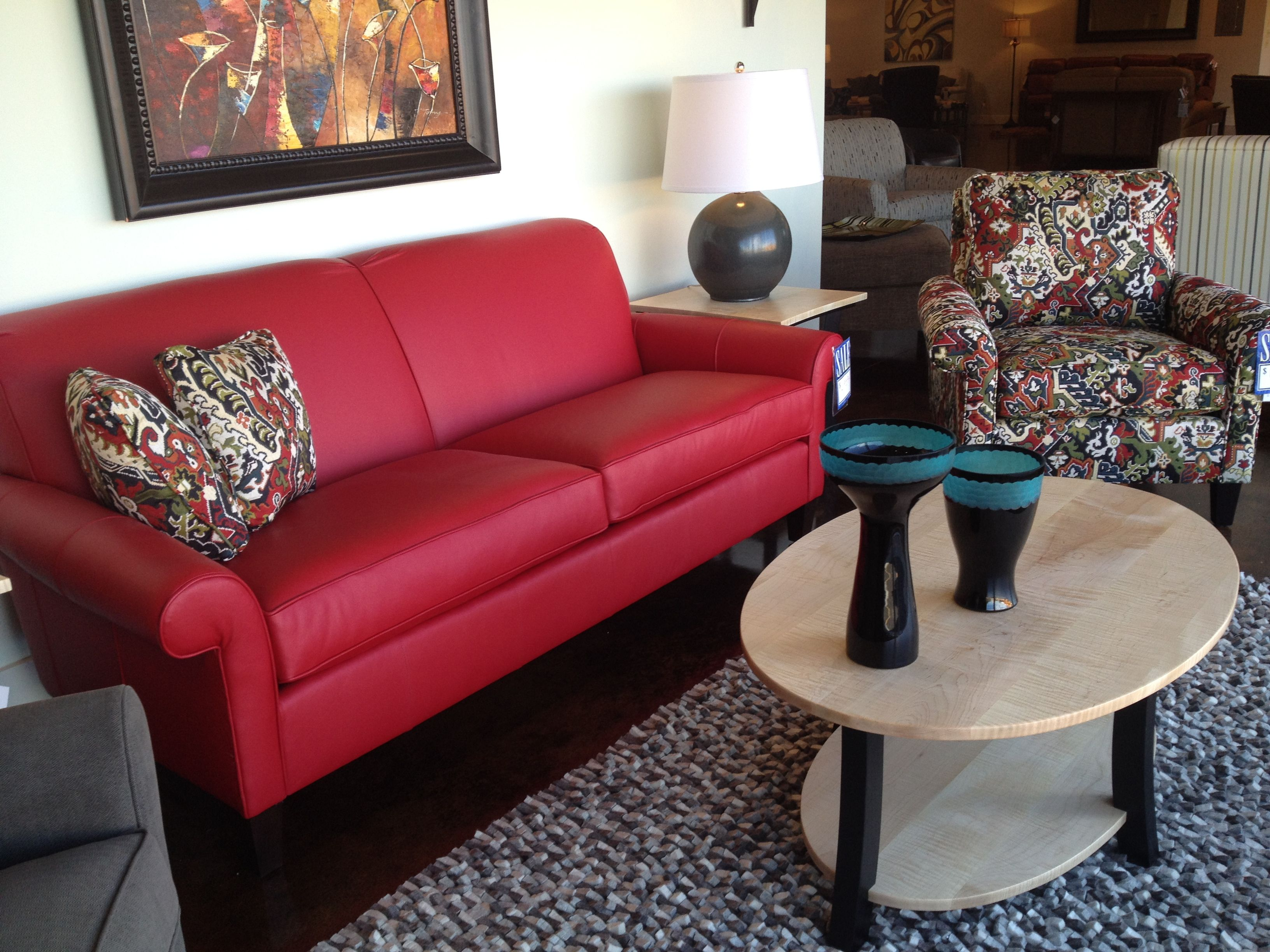 norwalk sofa and chair company e poltrone bolzano shane in red leather addison by
