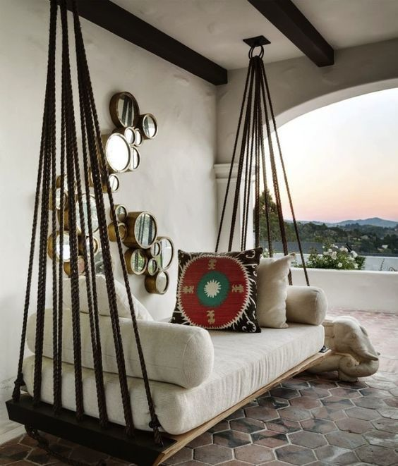 8 Pretty Swing Daybed Ideas that Have Us Longing for Summer