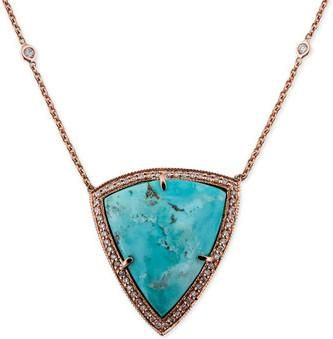 Jacquie Aiche Turquoise Bezel 4 Diamond Necklace as seen on Alessandra Ambrosio