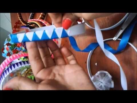 diademas con cintas nudos sandalias decoradas tejido hacer bebe hairbows bandas para la cabeza de la cinta congelados