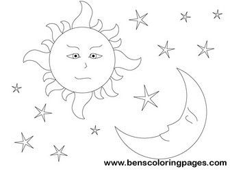 Day 4 Creation Sun Moon Moon Coloring Pages Sun Moon Creation