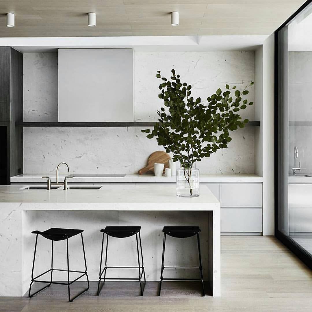 Contemporary Kitchen Island: Another Impressive Kitchen Design By @mimdesignstudio