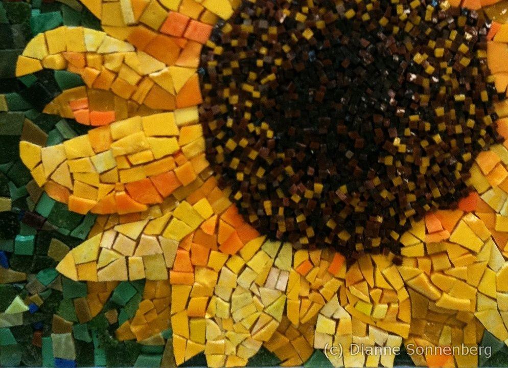 Dianne Sonnenberg Mosaics Sunflower Sunflower Mosaic Mosaic