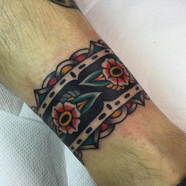 Leg Cuff From Yesterday Thanks Fabrizio For Bookings Email Hughsheldontattoo Gmail Com Cheers Cuff Tattoo Wrist Band Tattoo Arm Wrap Tattoo