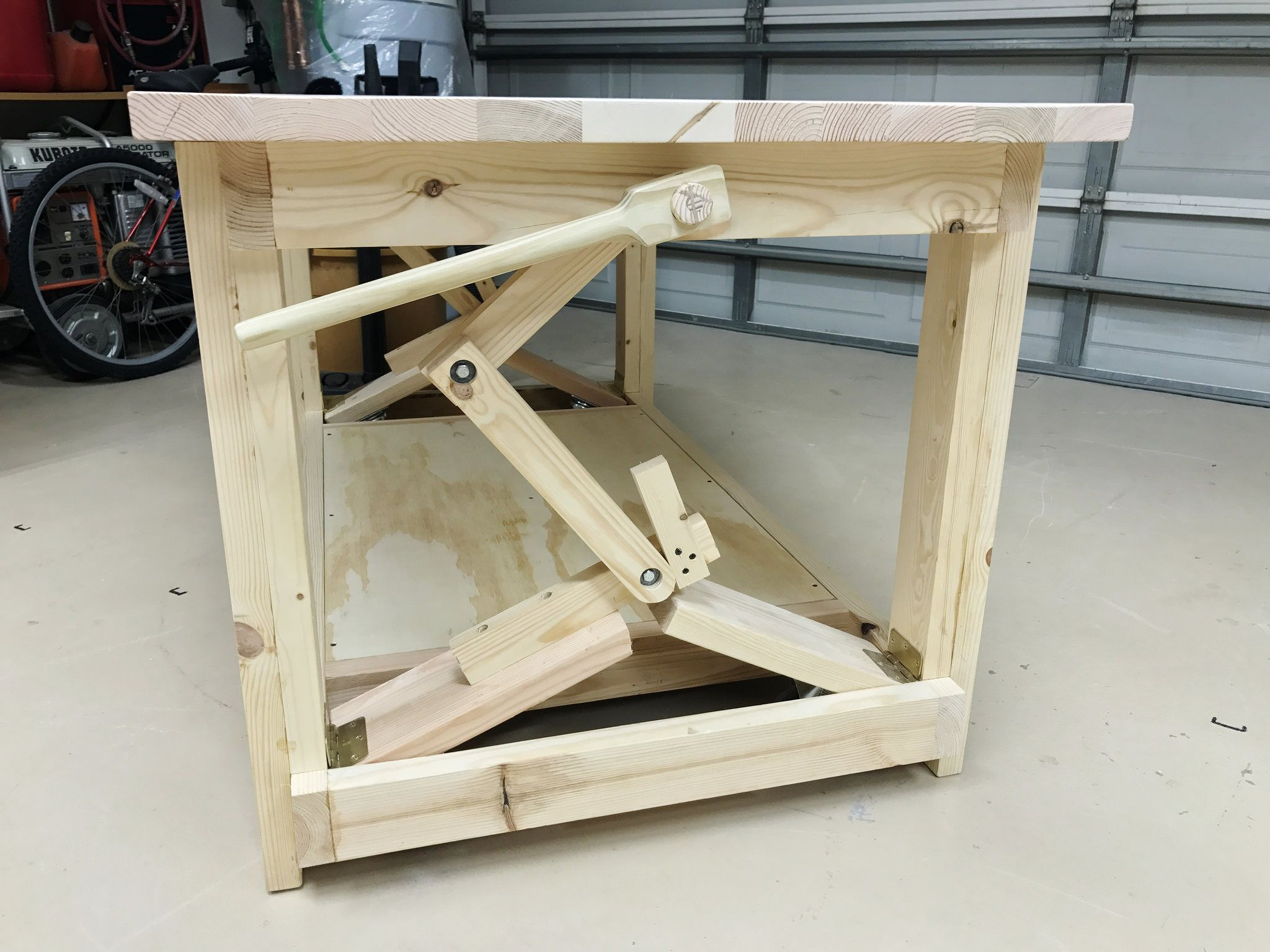 """workbench- retractable 3"""" wheels   woodworking in 2019"""