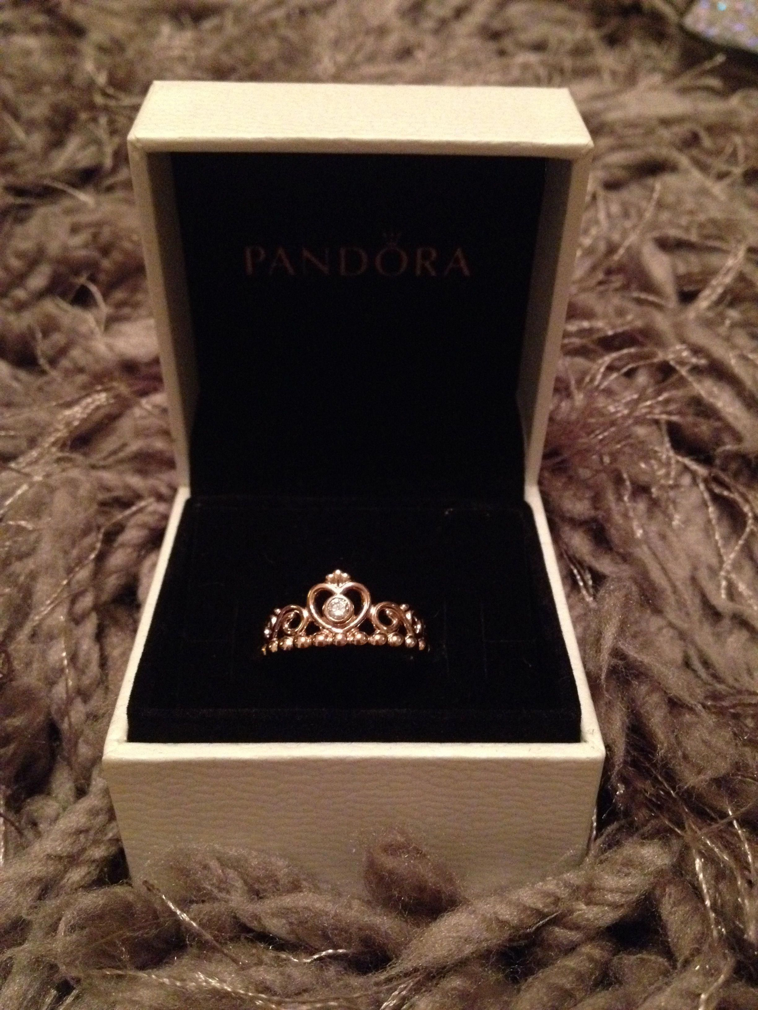 "Rose gold ""My Princess"" ring by Pandora rosegoldnecklace"