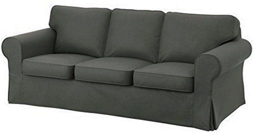 The Cotton Dark Gray Ektorp 3 Seat Sofa Cover Replacement Is - ikea ektorp gra