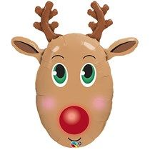Red-Nosed Reindeer Foil Balloon